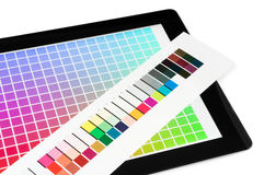 Proofing mobile pc screen. Color proofing mobile pc screen Stock Photography