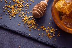 Propóleos del polen del producto de la abeja de la miel Foto de archivo