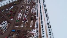Propósito aéreo de conseguir listo para una venta del fango del invierno de Amish