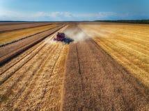 Propósito aéreo de la cosecha mecánica de la agricultura de la máquina segadora Foto de archivo