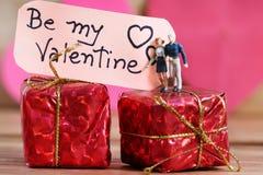 Propósito de la tarjeta del día de San Valentín fotografía de archivo libre de regalías