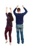 Propósito trasero de bailar hombres y a mujeres jovenes de los pares Baile Imagen de archivo