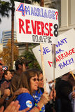 Prop 8 Protest Royalty Free Stock Photos