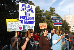 Prop 8 Protest Royalty Free Stock Photo