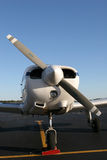 Prop closeup. Piper PA28 closeup propeller shot royalty free stock photo