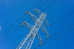 Prop overhead transmission line. Structure for holding wires - ground wire overhead power lines and fiber-optic communication line at a predetermined distance Stock Photography