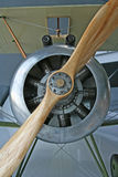 Prop Plane. Wood propeller on an old prop plane stock images