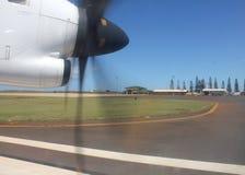 Prop plane window view Stock Images