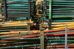 Prop post stacked for construction formwork Royalty Free Stock Photos