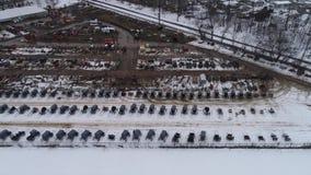 Prop?sito a?reo de conseguir listo para una venta del fango del invierno de Amish