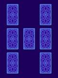 Propagação do tarô do relacionamento Verso dos cartões de tarô ilustração royalty free