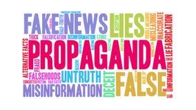 Propaganda Animated Word Cloud vector illustration