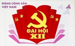 Propaganda billboard Ho Chi Minh city Royalty Free Stock Photo