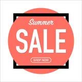 Propaganda da venda do verão no fundo coral de vida ilustração royalty free