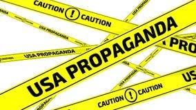 Propaganda de los E.E.U.U. Precaución Cintas amonestadoras amarillas libre illustration
