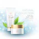 Propaganda de produto dos cosméticos do projeto Ilustração do vetor Fotos de Stock