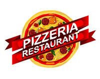 Propaganda do restaurante da pizza Fotografia de Stock Royalty Free