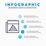 Propaganda, falsificação, embuste, jornalismo, linha ícone da notícia com fundo do infographics da apresentação de 5 etapas ilustração stock