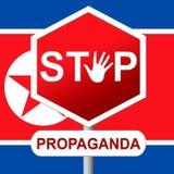 Propaganda från illustration för Nordkorea diktator 3d royaltyfri illustrationer
