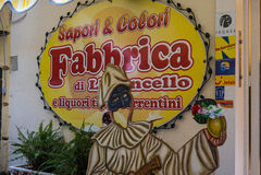 Propaganda italiana para a tela Limoncello Foto de Stock