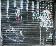 Propaganda política da raça presidencial em Brooklyn Imagens de Stock Royalty Free