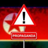 Propaganda Warning Message From North Korea 3d Illustration royalty free stock image