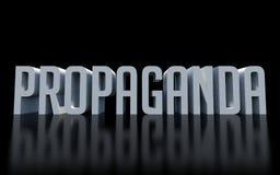 Propaganda word on black Royalty Free Stock Image