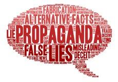 Propaganda-Wort-Wolke stock abbildung