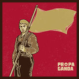 Propagandaarbeider Stock Foto's