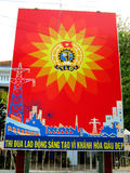 Propagandaplakat des vietnamesischen Kommunisten Stockfotos