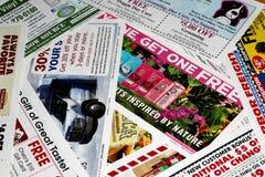 Propagandas do correio não solicitado fotos de stock