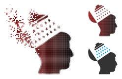 Propagande tramée détruite Brain Shower Icon de pixel Photographie stock libre de droits