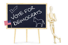 Propagandist calls on vote for Democrats in US elections Royalty Free Stock Images