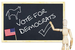 Propagandist encourages to vote for Democrats in US elections Royalty Free Stock Photography