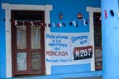 Propagandistic affiches in Vinales, Cuba Royalty-vrije Stock Fotografie