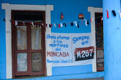 Propagandistic posters in Vinales, Cuba Royalty Free Stock Photography