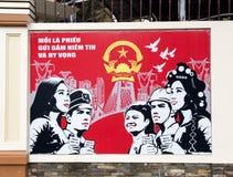 Propagandowy billboardu Ho Chi Minh miasto Fotografia Royalty Free