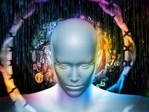 Propagatie van Digitale Gedachten Stock Afbeeldingen