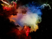 Propagation de l'espace rêveur Photo libre de droits