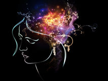 Propagation of Inner Thoughts Royalty Free Stock Images