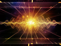 Propagation of Light Waves Stock Image