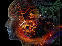 Propagation of Machine Consciousness Stock Photo
