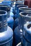 Propane Canisters Stock Photo