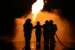 Propane Fire Training Burn. Live Fire training burn with propane stock images