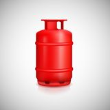 Propane gas balloon. Red gas tank, gas container Royalty Free Stock Photography