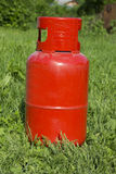 Propane gas bottle Stock Photo