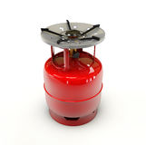 Propane gas cylinder on a white background. 3d Illustration of Propane gas cylinder on a white background Stock Photos