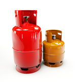 Propane gas cylinder on a white background. 3d Illustration of Propane gas cylinder on a white background Royalty Free Stock Photo
