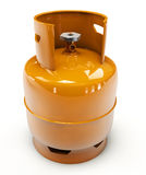 Propane gas cylinder on a white background. 3d Illustration of Propane gas cylinder on a white background Stock Images