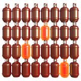 Propane gas cylinders isolated on a white background . 3d illustration.  Royalty Free Stock Images